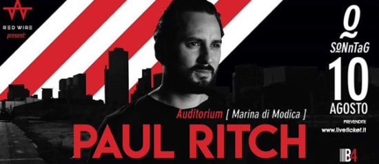 Sonntag w/ Paul Ritch all'Auditorium Mediterraneo a Marina di Modica