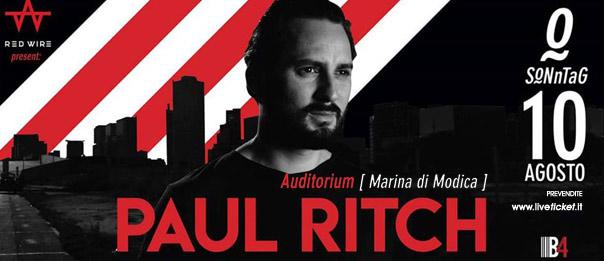 Sonntag w/ Paul Ritch all'Auditorium Mediterraneo a Marina di Modica
