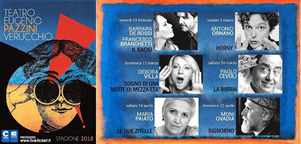 Stagione 2018 Teatro Eugenio Pazzini