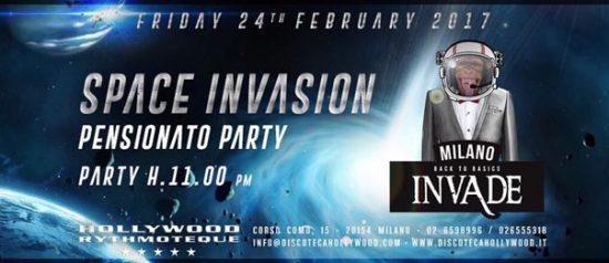 Invade Milano: Space invasion - Pensionato party all'Hollywood di Milano