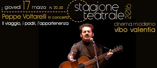 """Peppe Voltarelli in concerto """"Il viaggio, i padri e l'appartenenza"""" a Vibo Valentia"""