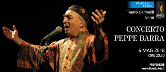 Concerto Peppe Barra al Teatro Garibaldi di Enna