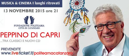 Peppino di Capri in concerto al Teatro Politeama di Catanzaro