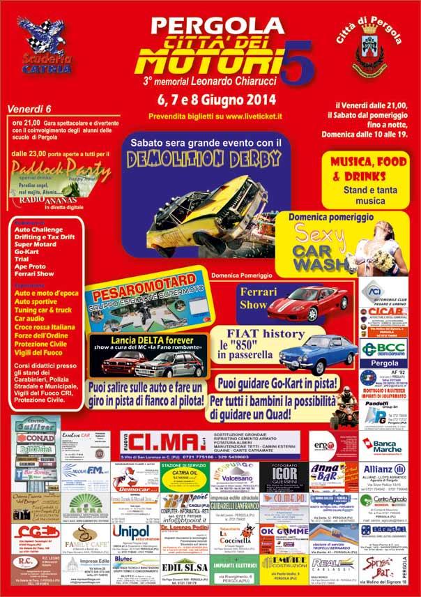 5^ Pergola Città dei Motori 2014  e 3° memorial Leonardo Chiarucci