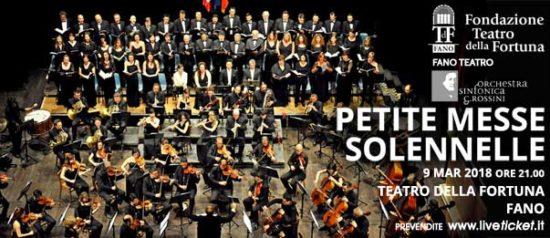 Orchestra Sinfonica G. Rossini - Petite Messe Solennelle al Teatro della Fortuna a Fano Copia