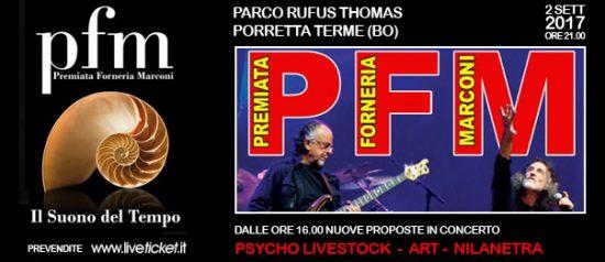 PFM in concerto al Parco Rufus Thomas a Porretta Terme