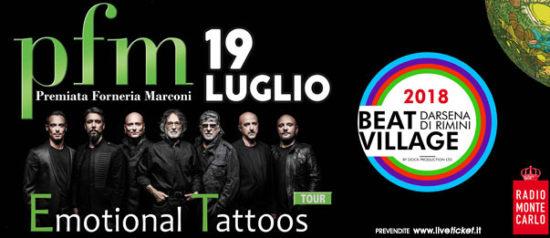 PFM - Premiata Forneria Marconi al Beat Village alla Nuova Darsena di Rimini
