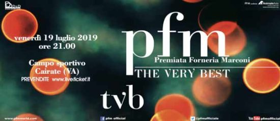 PFM - TVB the very best concerto al Campo Sportivo Oratorio di Bolladello di Cairate