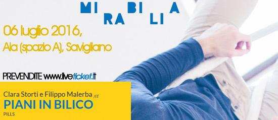 """Clara Storti e Filippo Malerba """"Piani in Bilico"""" al Mirabilia Festival 2016 a Savigliano"""