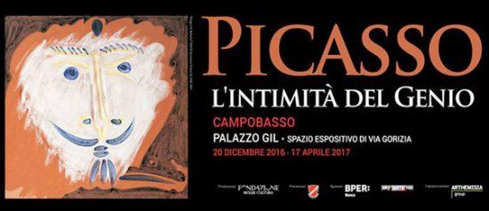 """Mostra Picasso """"L'intimità del genio"""" al Palazzo Gil di Campobasso"""