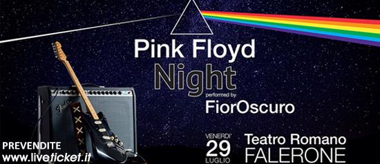 """FiorOscuro """"Pink Floyd Night"""" al Teatro Romano di Falerone"""