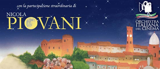 Il M°Nicola Piovani e l'Orchestra Italiana del Cinema a Santarcangelo di Romagna