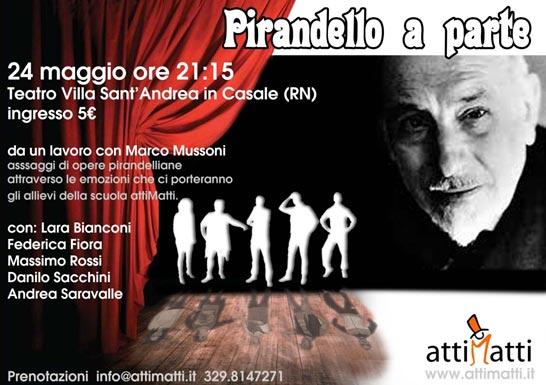 """""""Pirandello a parte"""" al Teatro Villa a San Clemente"""