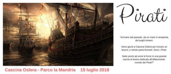 Pirati a Cascina Oslera a Robassomero