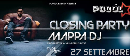 Mappa DJ The Closing Party @ Club Pocol Carpegna‎