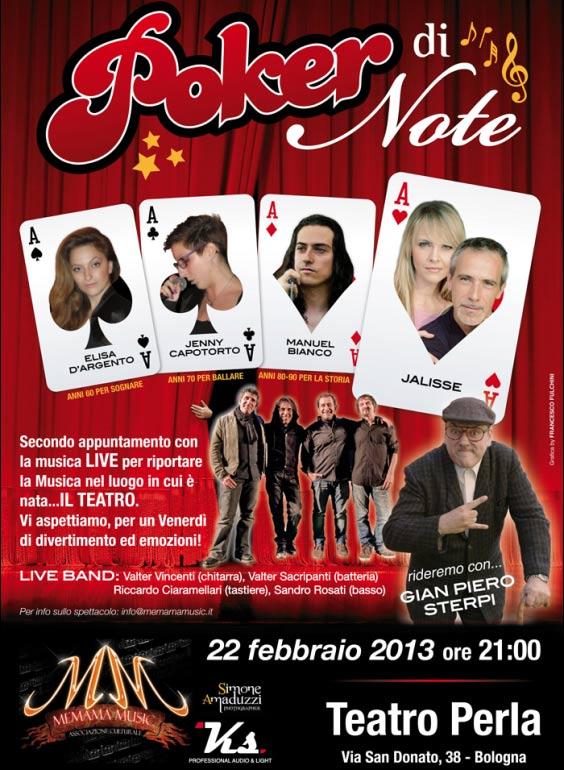 Poker di Note al Teatro Perla di Bologna
