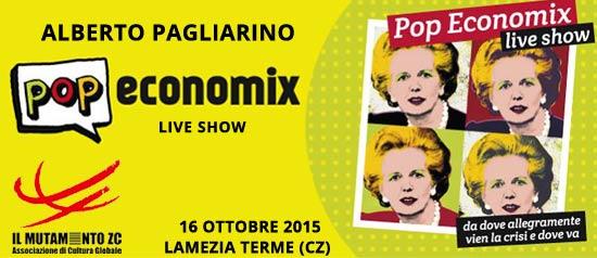 """""""Pop economix live show"""" a Lamezia Terme"""