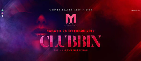 Clubbin' pre Halloween edition al Mall Club di Rescaldina