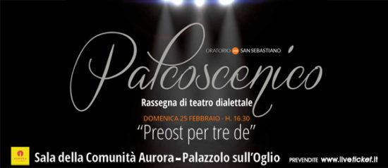 Preost per tre de al Cinema Teatro Aurora a Palazzolo sull'Oglio