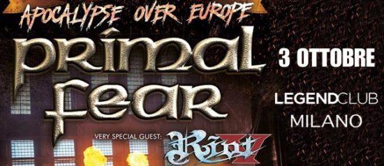 Primal Fear + Riot V al Legend Club di Milano