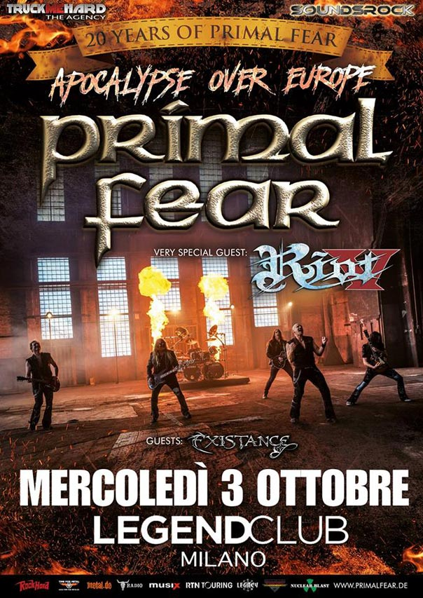 Primal Fear + Riot V al Legend Club di Milano