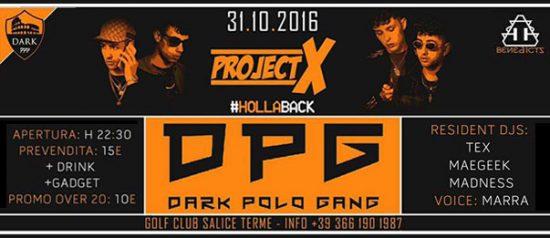 Project X Hollaback al Golf Club di Salice Terme