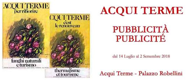 Pubblicità Publicité al Palazzo Robellini ad Acqui Terme