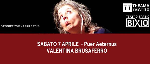 """Valentina Brusaferro """"Puer Aeternus"""" al Teatro Spazio Bixio di Vicenza"""