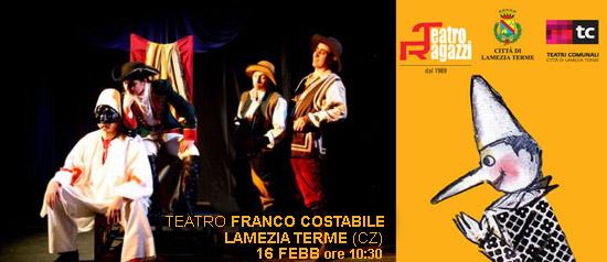 Pulcinella e il mistero del castello a Lamezia Terme
