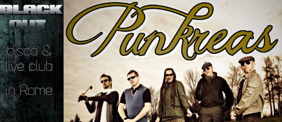 Punkreas Live a Rock Arena al BlackOutRockClub di Roma