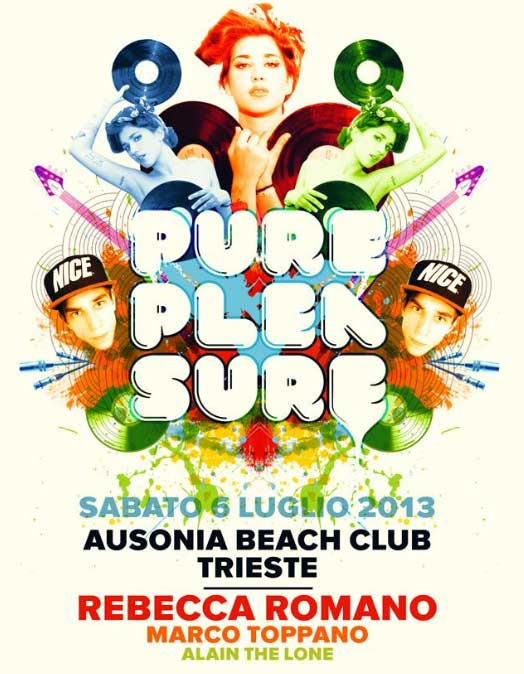 Pure Pleasure all'Ausonia Beach Club di Trieste