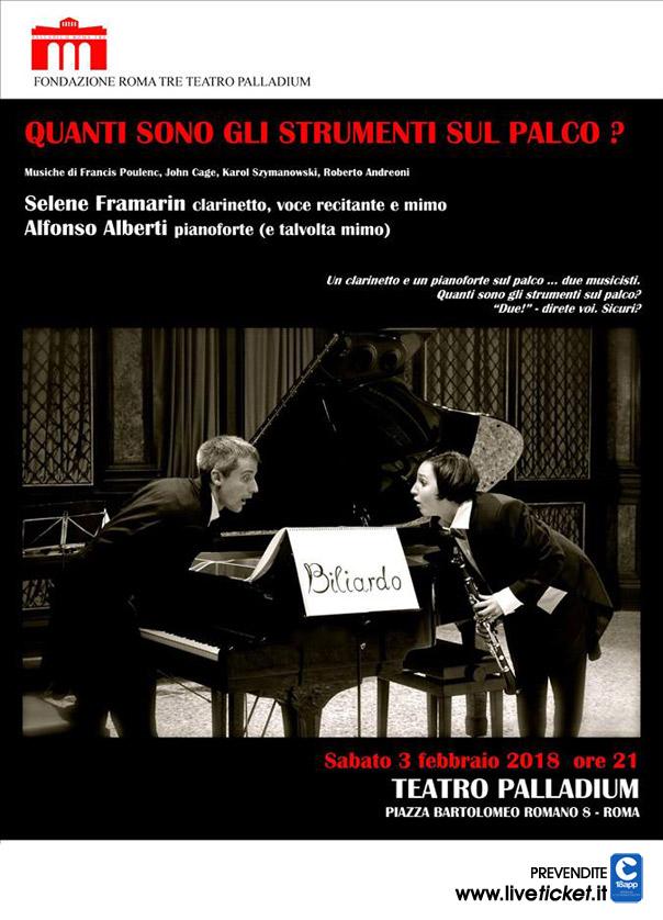 Quanti sono gli strumenti sul palco? al Teatro Palladium a Roma