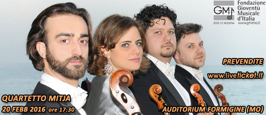 "Quartetto Mitja all'Auditorium ""Spira mirabilis"" di Formigine"