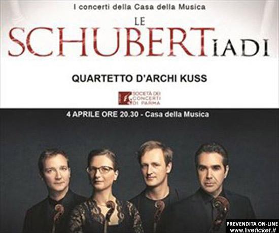 Quartetto d'archi Kuss alla Casa della Musica di Parma