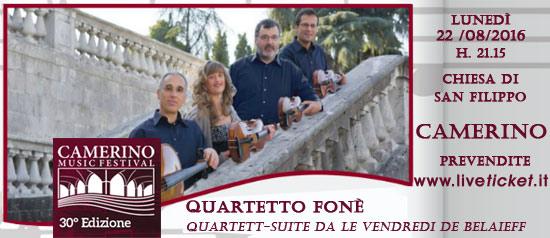 Quartetto Fonè al Camerino Music Festival