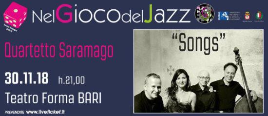 Quartetto Saramago al Teatro Forma di Bari