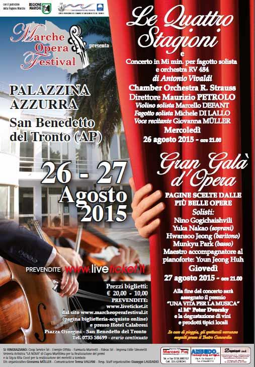 """""""Le quattro stagioni"""" di Vivaldi al Marche Opera Festival a San Benedetto del Tronto"""