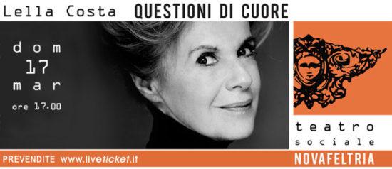 Questioni di cuore - Lella Costa al Teatro Sociale di Novafeltria