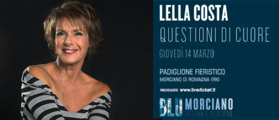 """Lella Costa """"Questioni di cuore"""" al Padiglione Fieristico a Morciano di Romagna"""