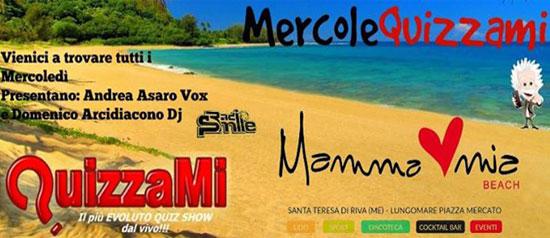 QuizzaMi al Mamma Mia Beach a Santa Teresa di Riva