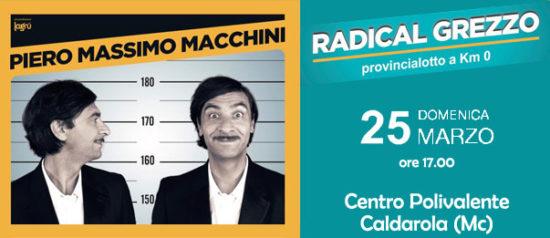"""Piero Massimo Macchini """"Radical grezzo"""" al Centro Polivalente a Caldarola"""