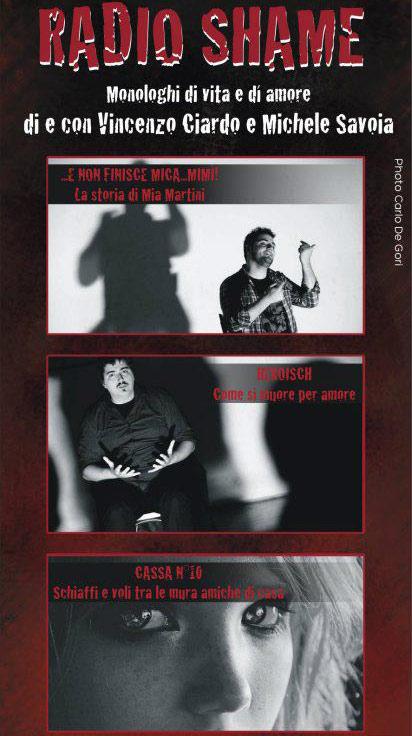 """Prima Nazionale """"Radio Shame"""" al Teatro Millelire di Roma"""