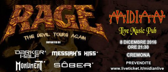 Rage (heavy/Speed/Power Metal)+Guest al Midian Live Pub di Cremona