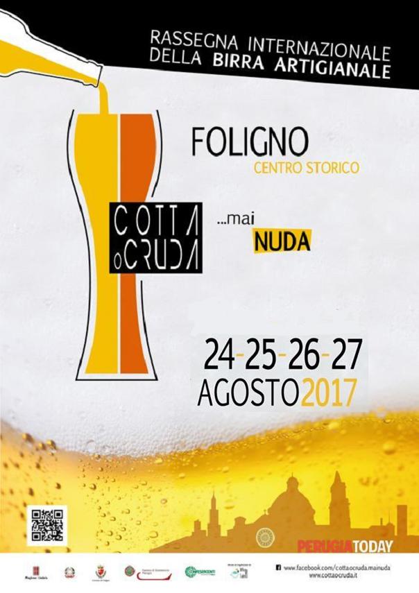 """Rassegna Internazionale """"Cotta o Cruda...mai nuda"""" della Birra Artigianale a Foligno"""