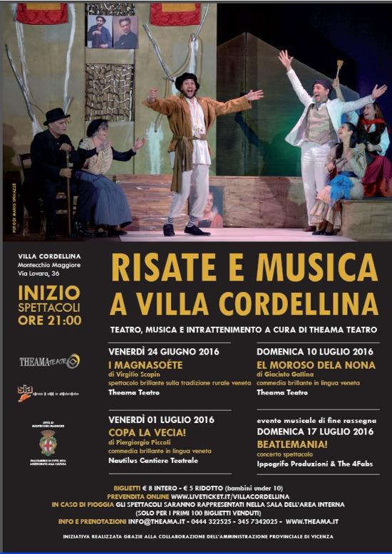 rassegna Risata e Musica a Villa Cordellina