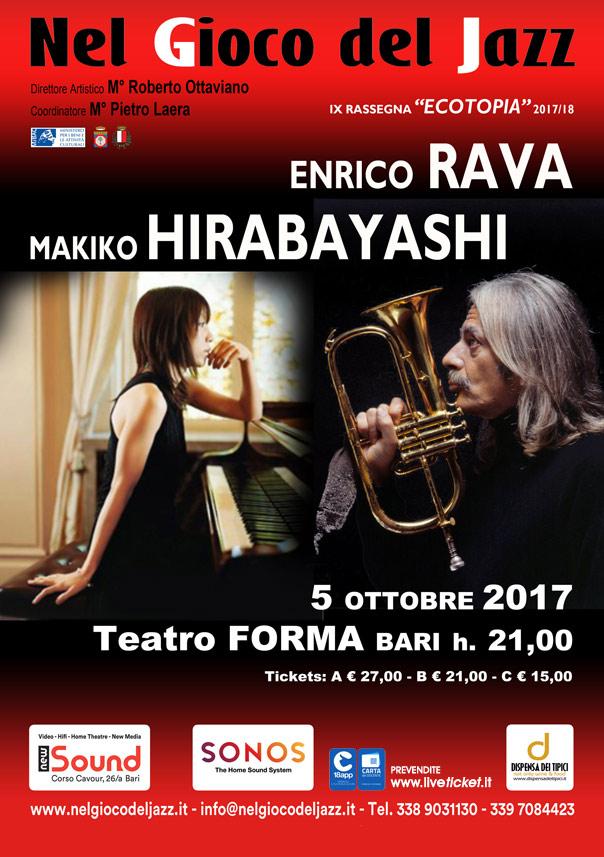 Enrico Rava e Makiko Hirabayashi al Teatro Forma di Bari