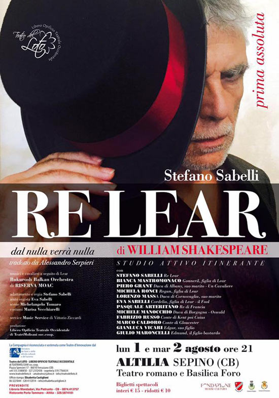 """""""Re Lear"""" a Terra d'Arte estate 2016 al Teatro Romano di Altilia a Sepino"""