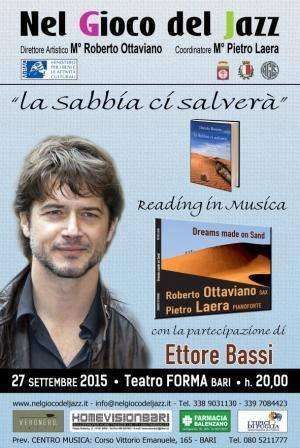 """Bassi/Ottaviano/Laera """"Reading in Music"""" al Teatro Forma di Bari"""