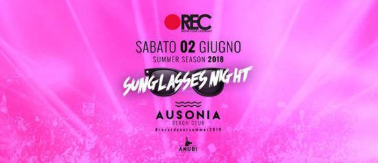 REC Move your saturday - Sunglasses night all'Ausonia Beach Club di Trieste