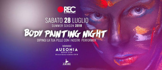 REC Move your saturday - Body Painting night all'Ausonia Beach Club di Trieste